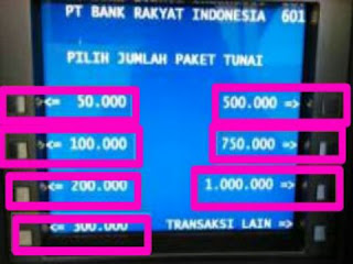 Mearik Uang Di ATM BANK BRI