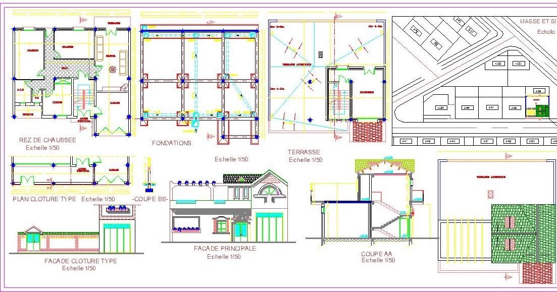 Engineering Et Architecture Plan Autocad D 39 Une Petite
