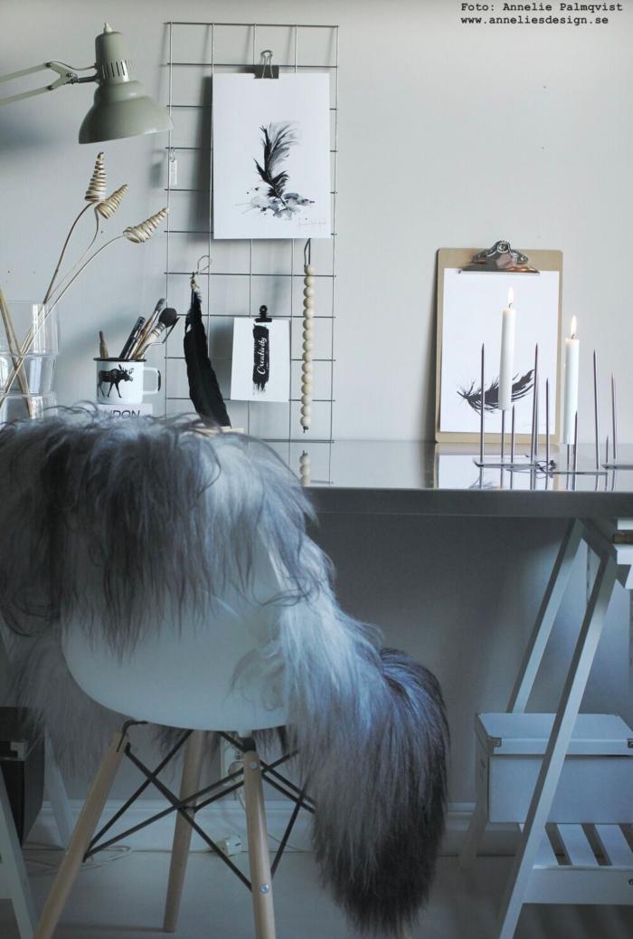annelies design, webbutik, webshop, tavla, tavlor, konsttryck, arbetsrum, arbetsrummet, galler, vykort, spiralblomma, spiralblommor, blomma, torkade växter, vas, vako, smaelta