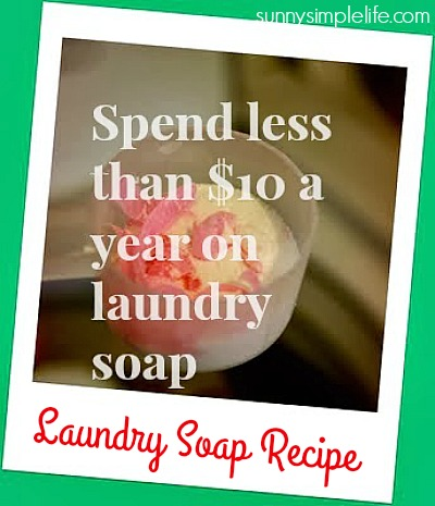homemade laundry soap, making your own laundry detergent