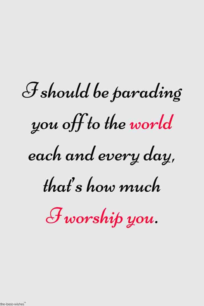 i worship you quote for love