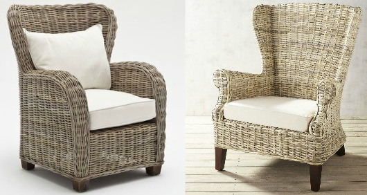 Large Rattan Club Chairs