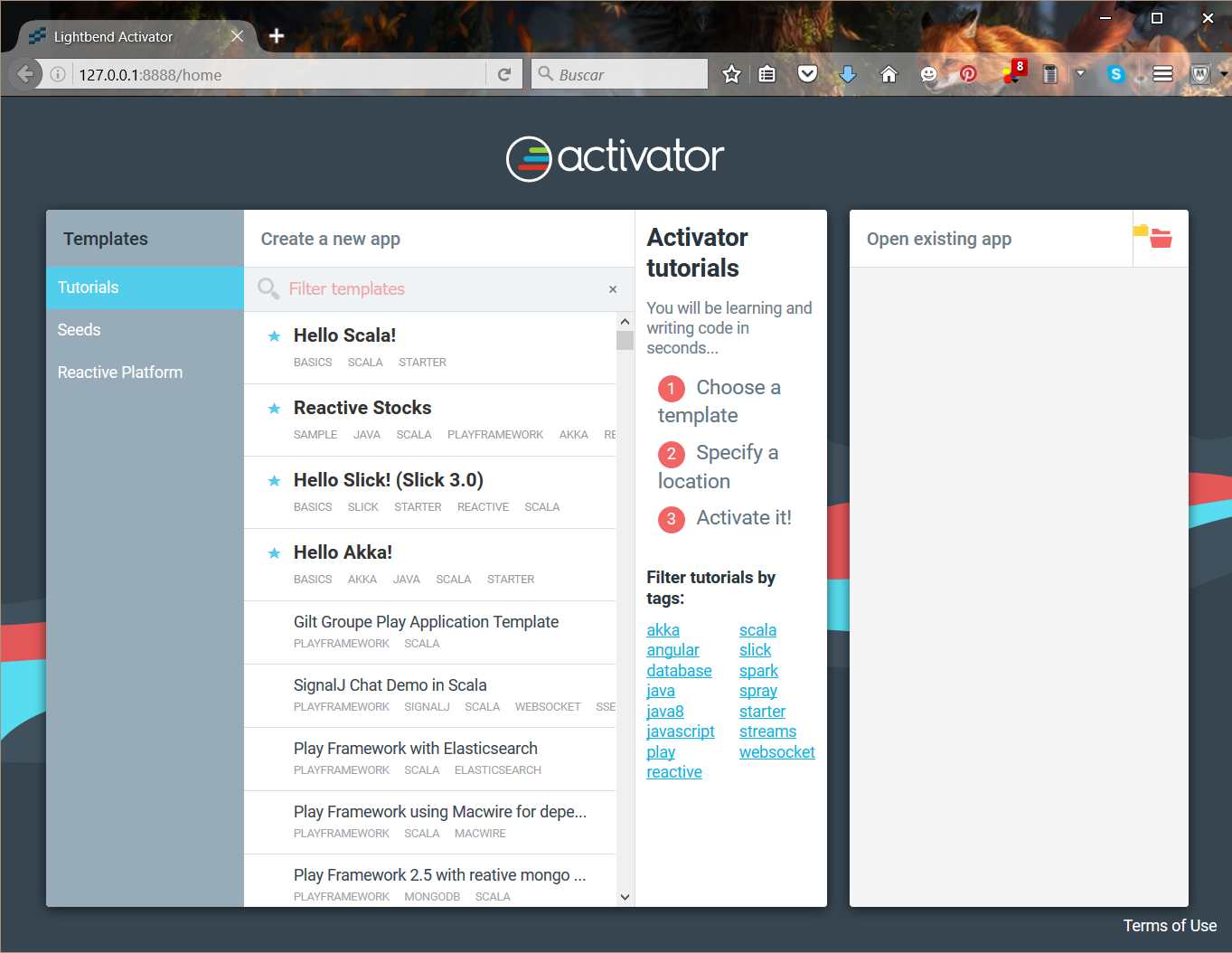 activator play framework