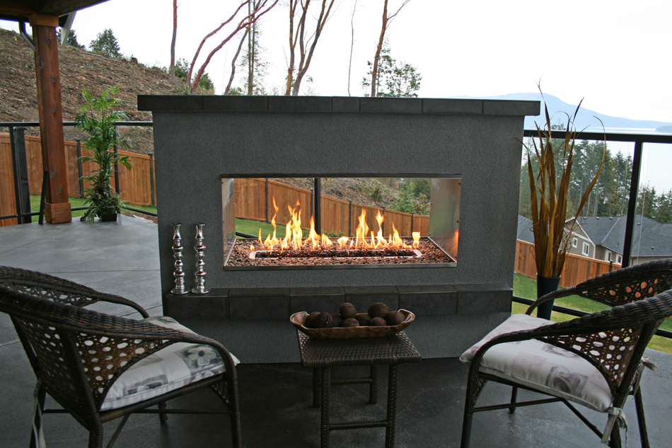 Live With What You Love Delightful See Through Fireplace