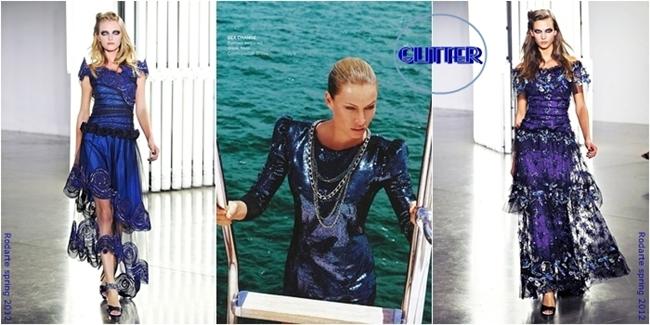 Rodarte spring 2012 blue dresses