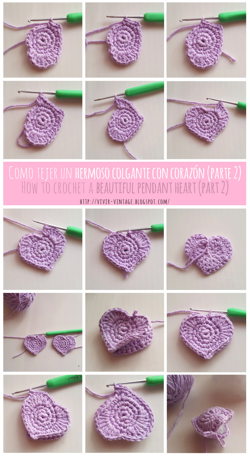 corazon crochet facil fototutorial