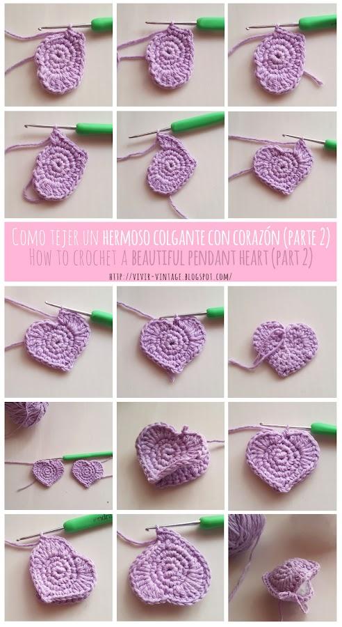 corazon crochet facil fototutorial