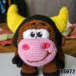 patron gratis toro amigurumi, free amigurumi pattern bull
