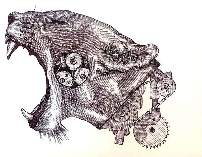 Ilustración, Salvajismo de John Fredy Hernández García