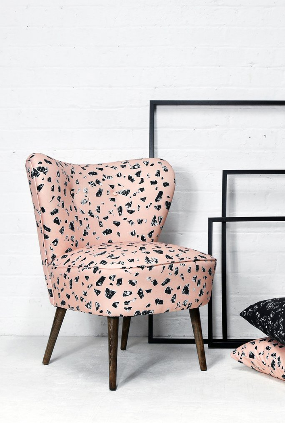 French For Pineapple Blog - Florrie + Bill The Studio Collection Pink Cocktail Chair Terrazzo