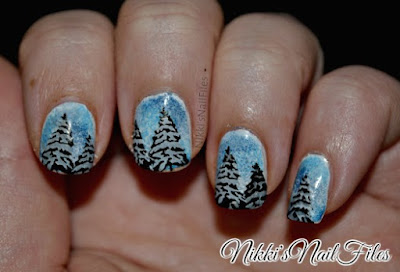 snowy trees manicure