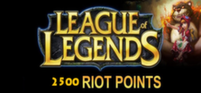 League of Legends - 2500 riot points grátis
