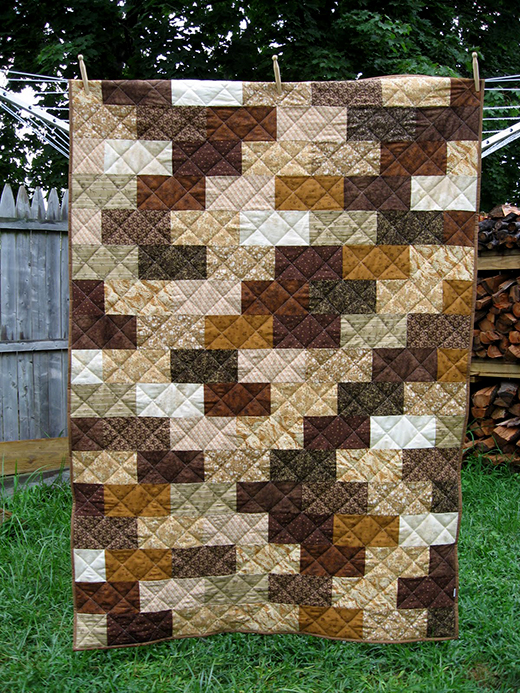 Brick Wall Quilt Designed by Lyanna Anderson of Blue Striped Room