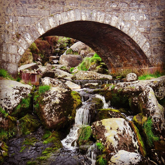 Wicklow Mountains Tour - Water flowing under the PS I Love You Bridge