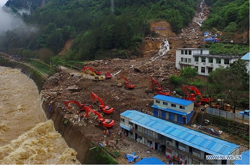 Landslide rescue in Fujian, China
