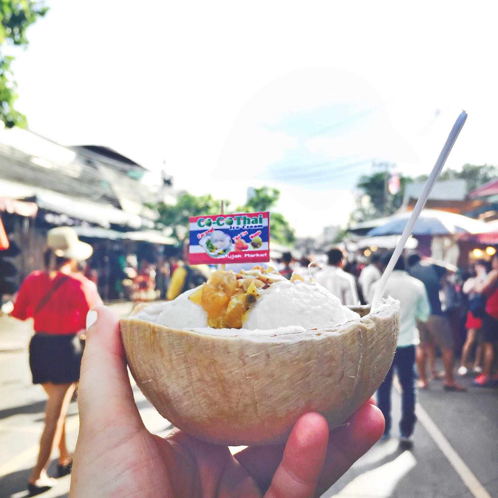 Coconut ice cream in Thailand