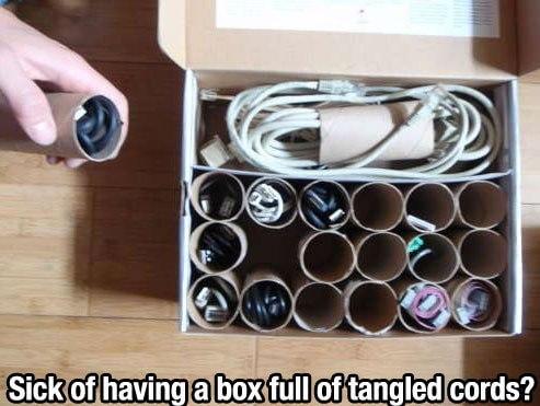 Organizing tangled cords properly