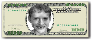 100 Dollar Tooth Fairy Bill