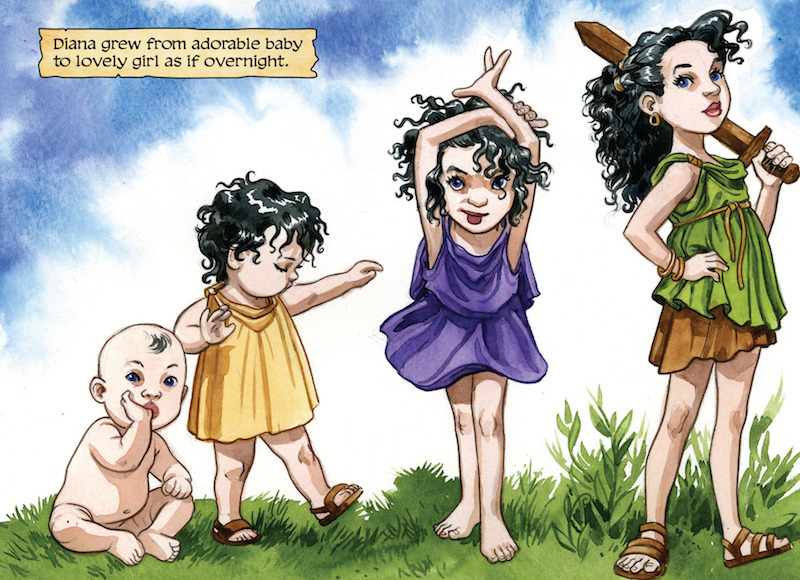 Wonder Woman: The True Amazon, By Jill Thompson Letters: Jason Arthur  Wonder Woman created by William Moulton Marston, H. G. Peter, Elizabeth Holloway Marston, Olive Byrne.