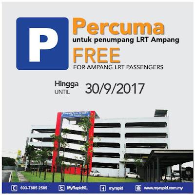 LRT Ampang FREE Park N Ride Facilities Promo