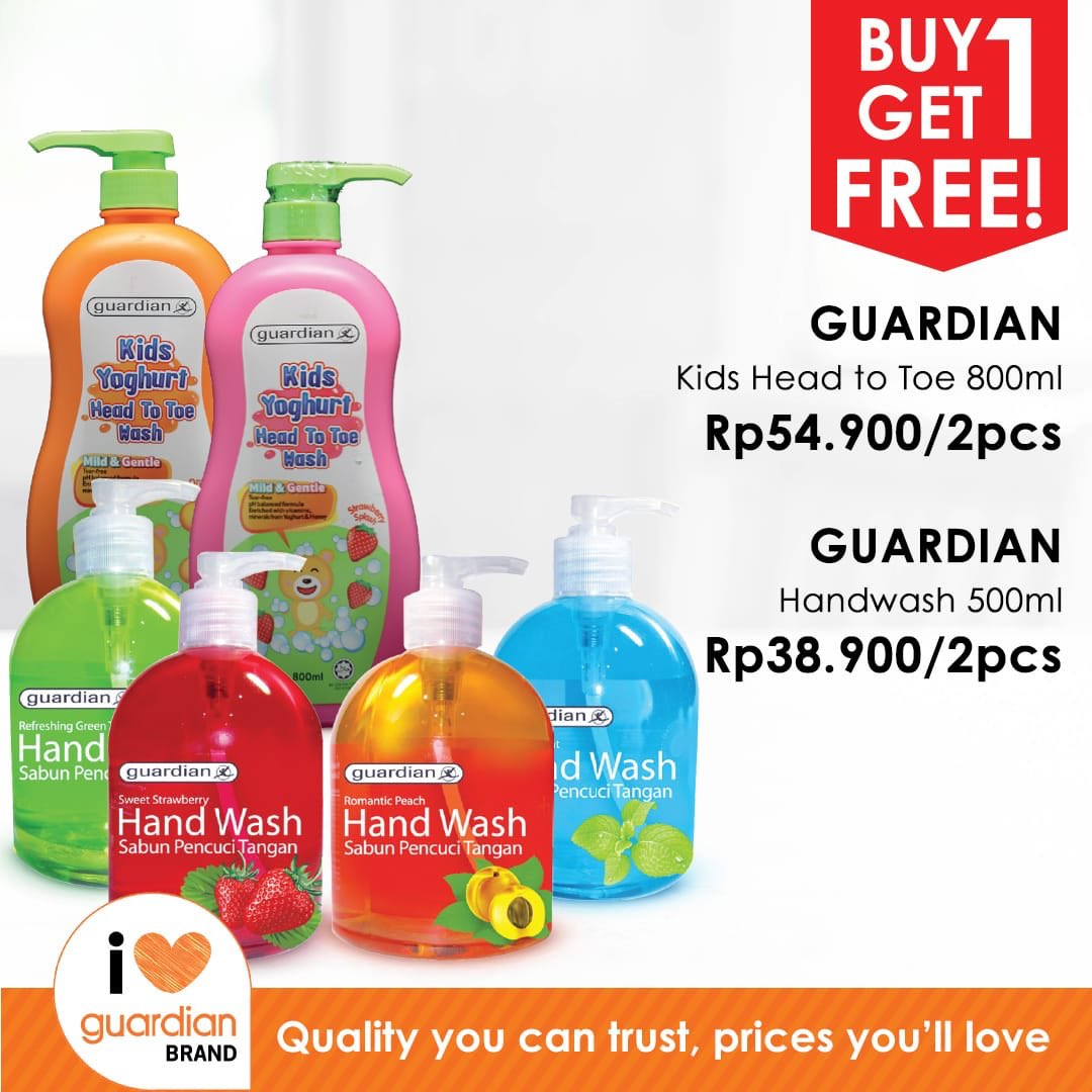 #Guardian - #Promo Buy 1 Get 1 Free Produk Guardian (s.d 20 Feb 2019)