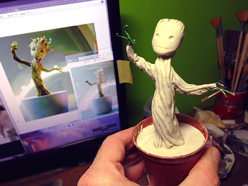 roughing in Groot's details