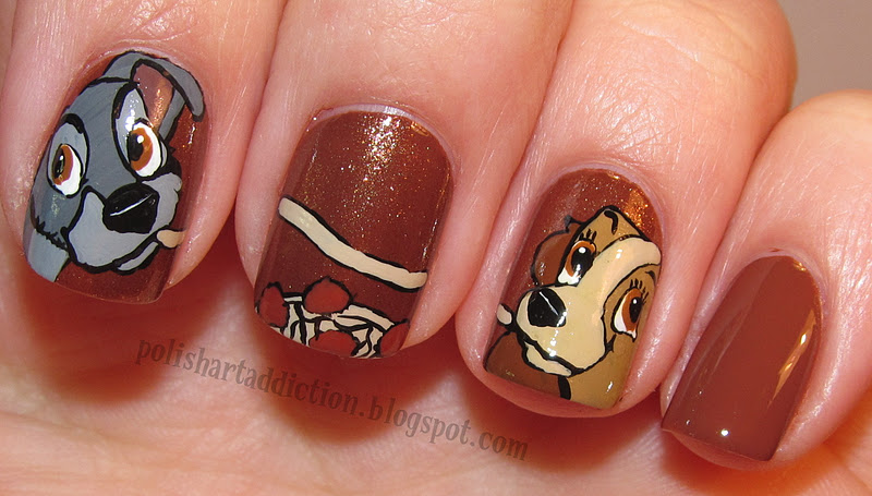 Lady and the Tramp Nail Art