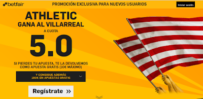 betfair Athletic gana Villareal supercuota 5 Liga 6 febrero