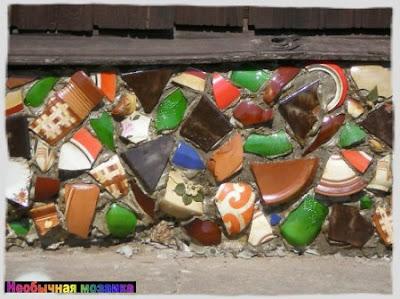 НЕОБЫЧНАЯ МОЗАИКА: Веселая мозаика в дачном интерьере