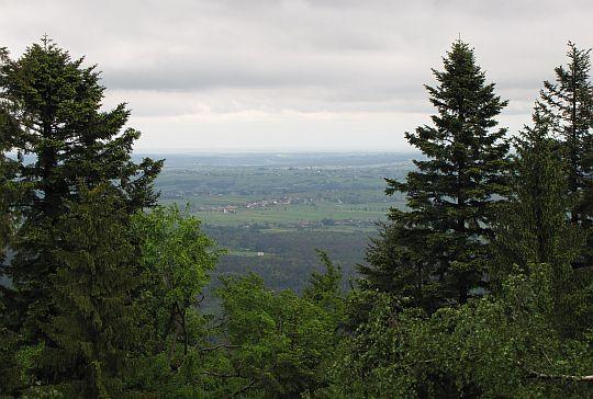 Północna panorama z Łysicy.