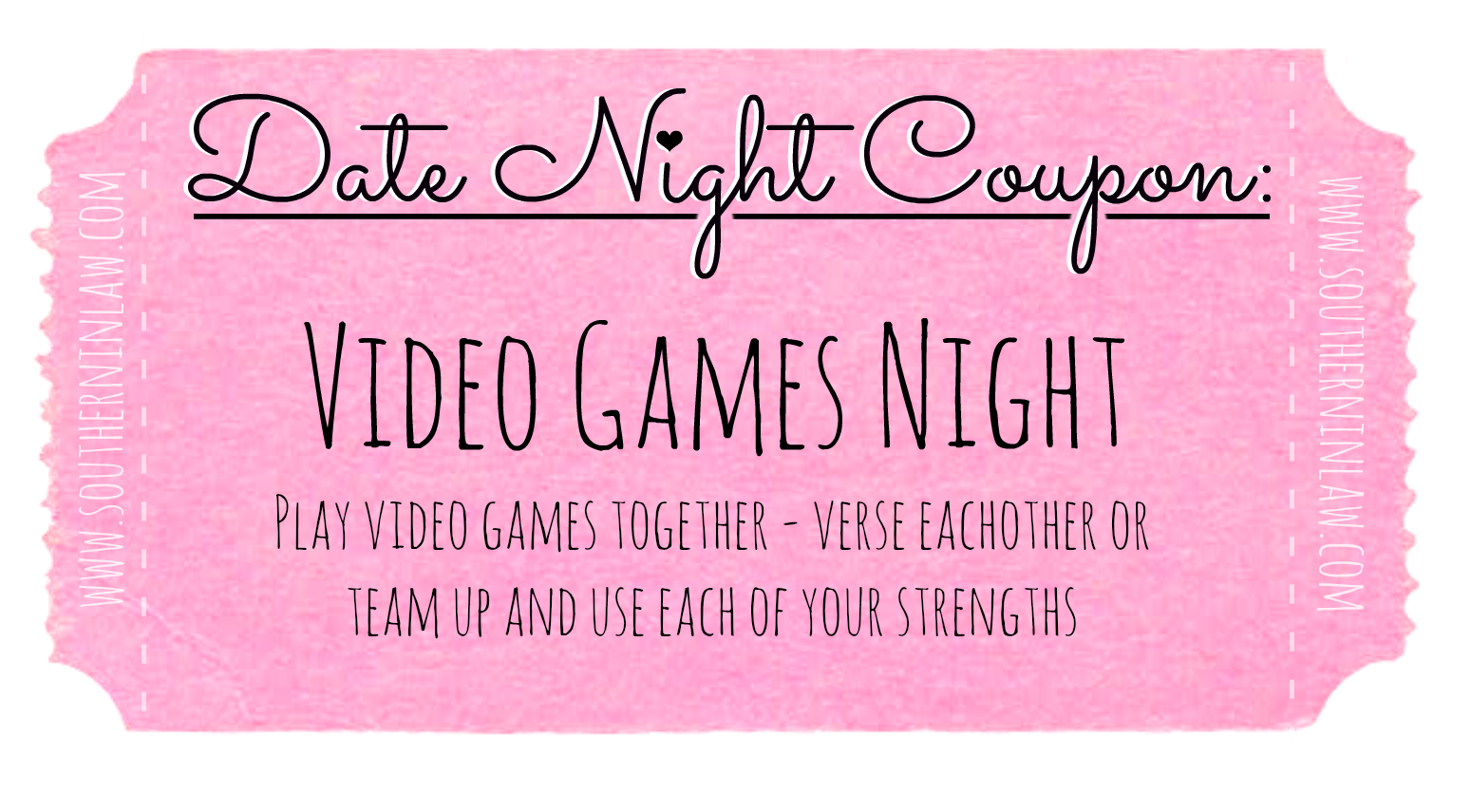 Affordable Date Ideas - Cheap Date Ideas Coupons - Video Games Night