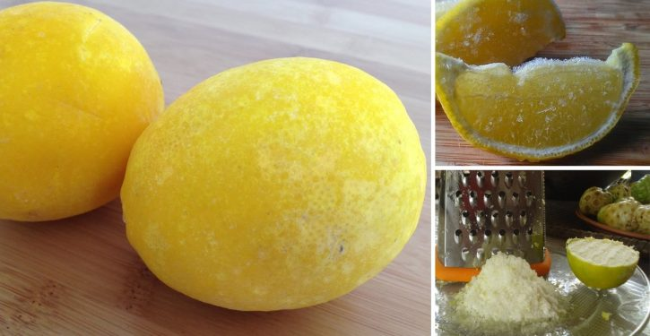 My God ! If I Had Known That Before! Frozen Lemons Can Cure Everything