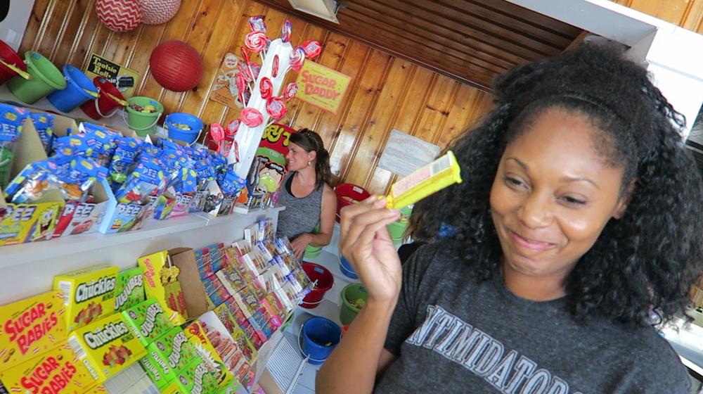 Raiding a Candy Store in Brunswick Islands, North Carolina