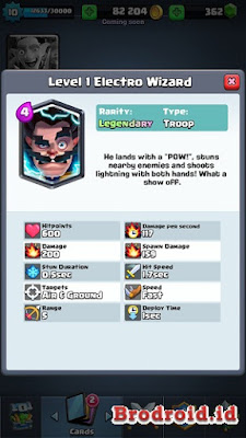 Electro Wizard Kartu Legendary Clash Royale