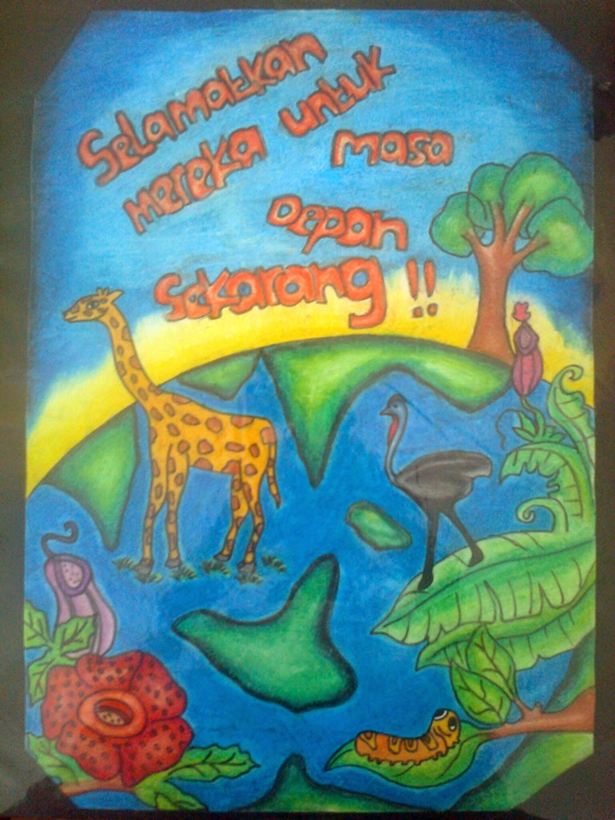 Contoh Gambar Poster Tentang Pelestarian Hewan Dan Tumbuhan Materi Pelajaran 9