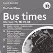 PRESTON and WEETON HIVE: Fylde Villager Bus Time Table