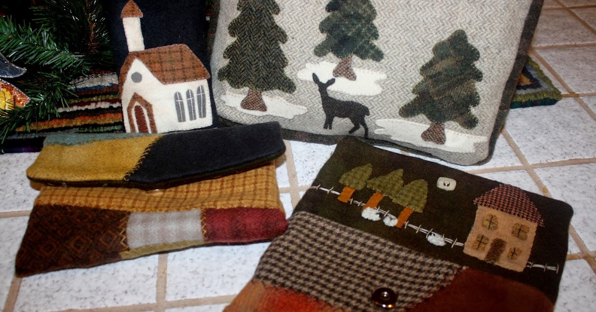 Primitives By The Light Of The Moon Wool Applique And Rug