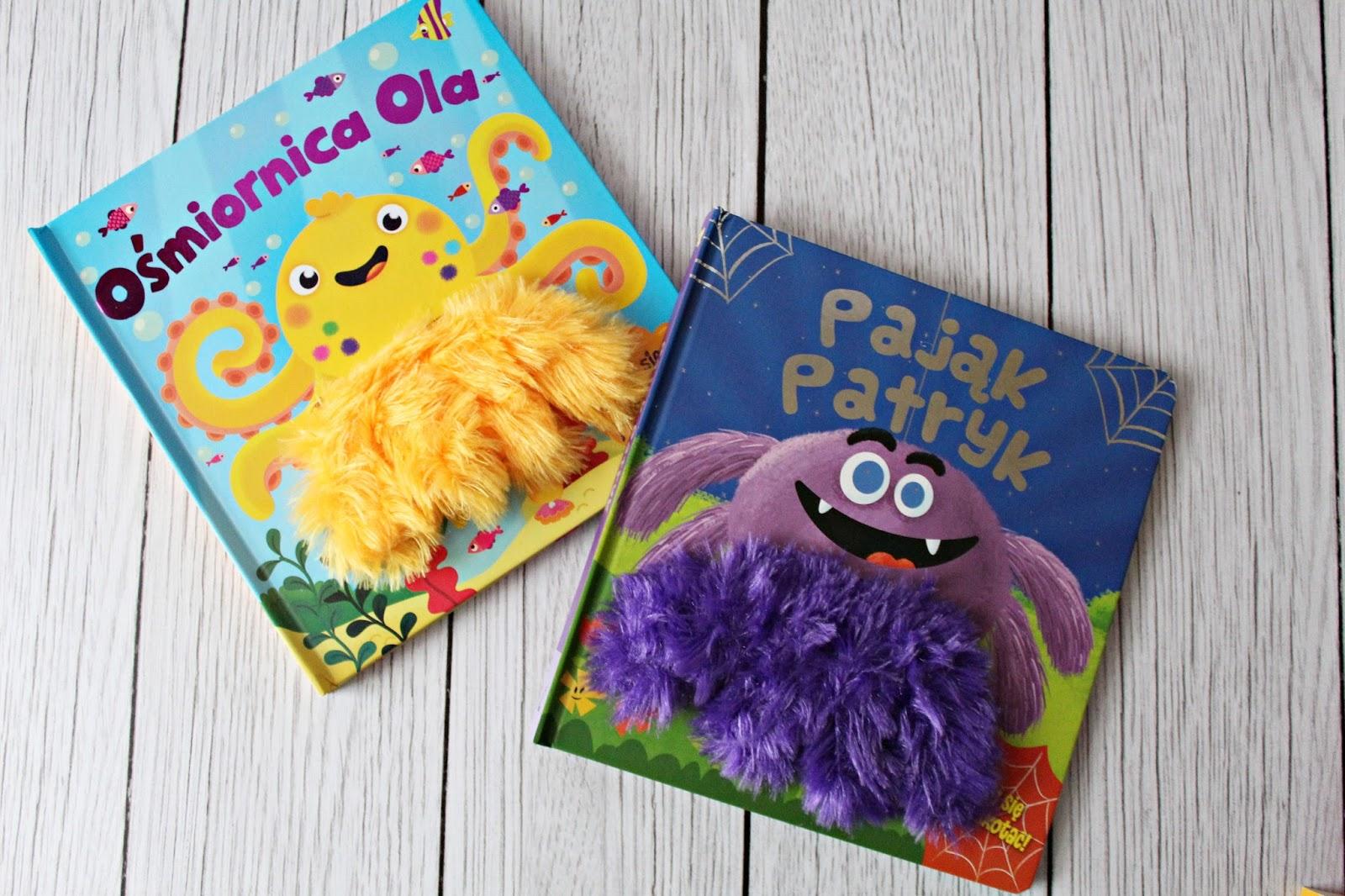 INTERAKTYWNE książeczki z pacynkami dla najmłodszych - PAJĄK PATRYK I OŚMIORNICA OLA / WYDAWNICTWO WILGA