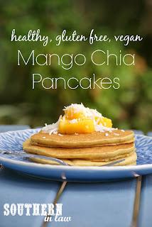 Healthy Vegan Mango Chia Pancakes Recipe Gluten Free