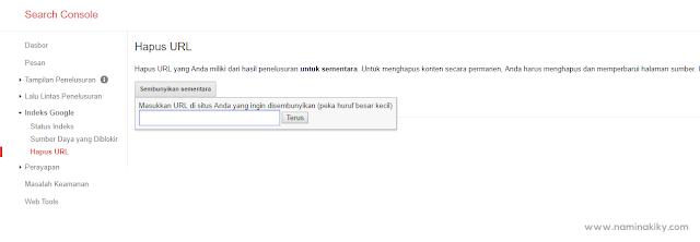 Cara Menghapus URL Artikel dari Index Google