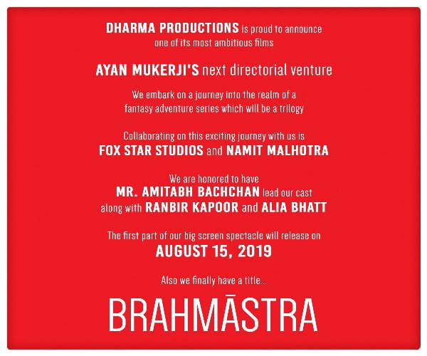 full cast and crew of Bollywood movie Brahmastra 2019 wiki, Sanjay Dutt, Arshad Warsi The Great story, release date, Brahmastra wikipedia Actress name poster, trailer, Video, News, Photos, Wallpaper
