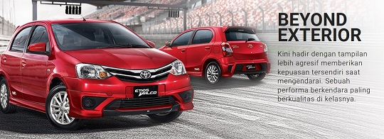 Eksterior Toyota Etios Valco Tahun 2018