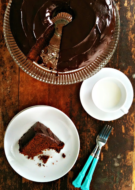 Sweetsugarbean Chocolate Gingerbread Beer Bundt Cake