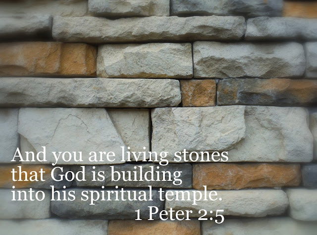 You Are the Building Stones: 1 Peter 2:5 : The Charm of Home