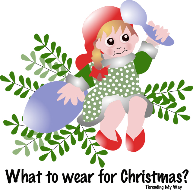 Make some wearable items for Christmas - clothing, hair accessories, jewellery ~ Threading My Way