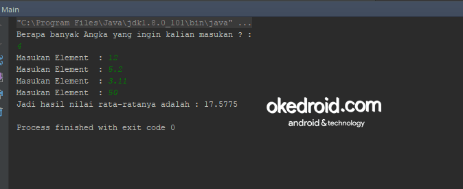 Contoh Program Menghitung Nilai Rata Rata Array Di Java Okedroid