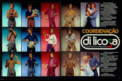 propaganda Di Licosa - 1973.  Moda anos 70; propaganda anos 70; história da década de 70; reclames anos 70; brazil in the 70s; Oswaldo Hernandez