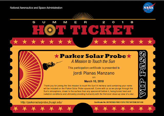 Thank you for joining the first mission to touch the Sun! A memory card containing your name will be included on the Parker Solar Probe spacecraft. Come with us as we plunge through the Sun's atmosphere, closer to the surface than any spacecraft before it, facing brutal heat and radiation conditions-and ultimately providing humanity with the first-ever close-up view of a star.