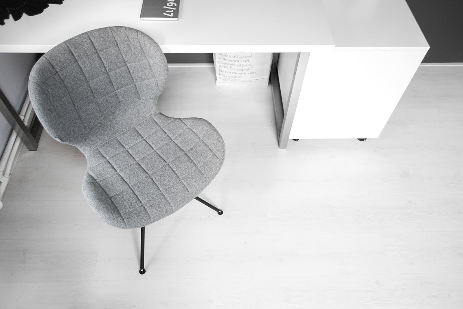 Zuiver, omg chair, minster design, minimal interior, black white, interior design, vitra, elephant mouse pad