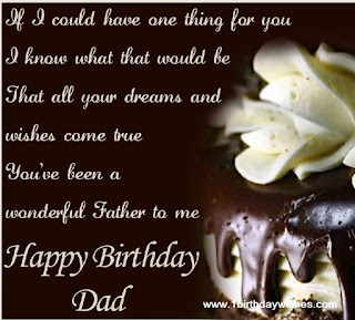 Birthday wishes messages for dad